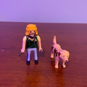 Playmobil veterinarian with stethoscope and dog